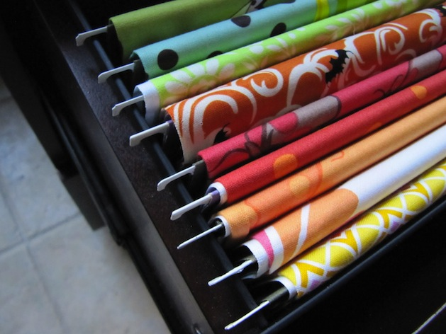 How-To: Organize Fabric in a Filing Cabinet
