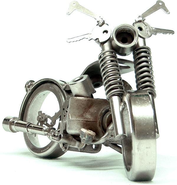Tiny Scrap Metal Motorcycles