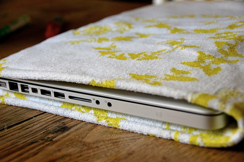 Laptop Sleeve from Vintage Material