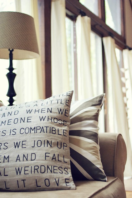 How-To: Stenciled Letter Pillow