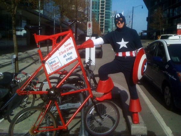 "Vancouver Makers Make ""Art Bikes"" to Help Promote Mini Maker Faire"