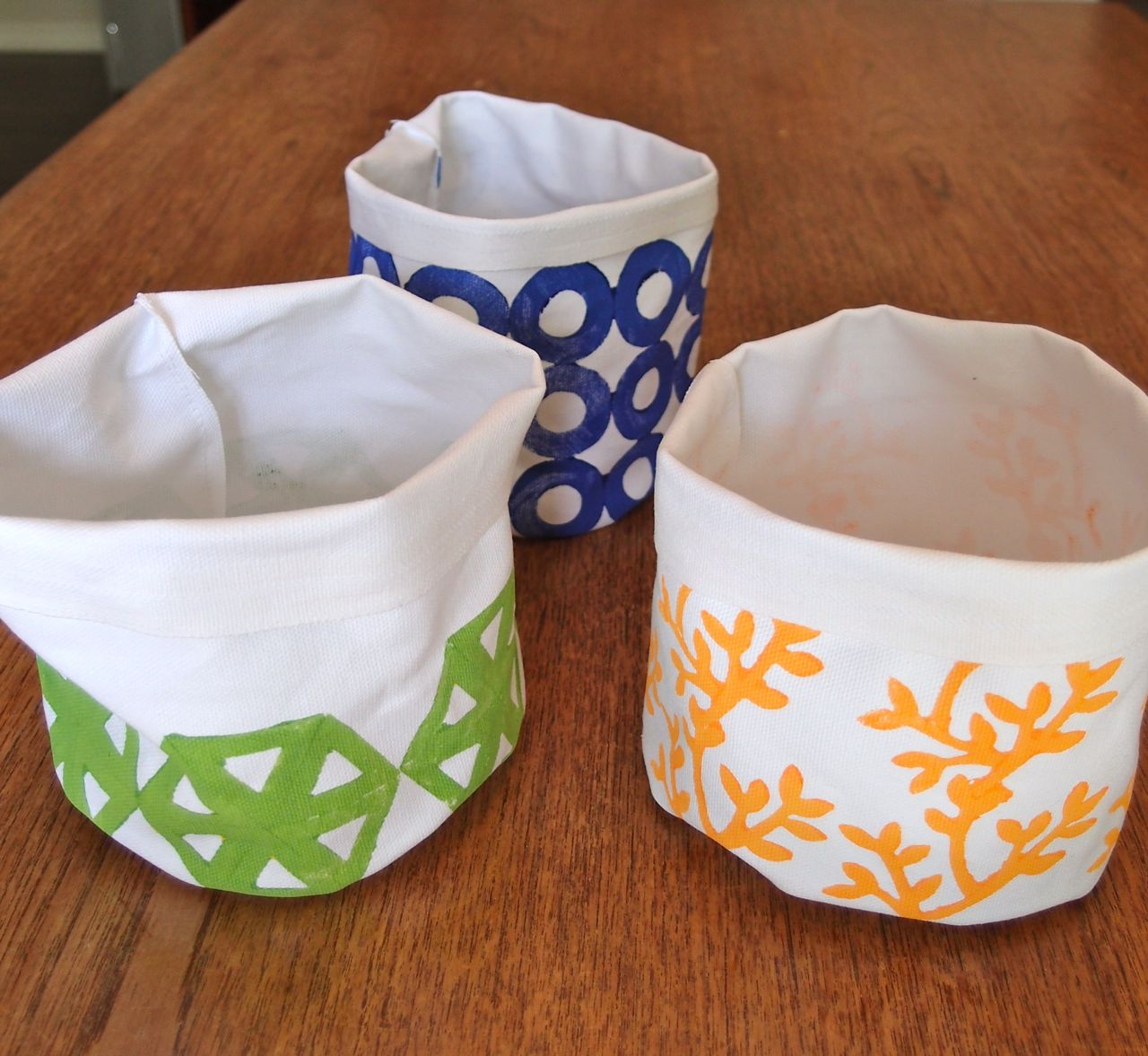 Block Print Canvas Containers