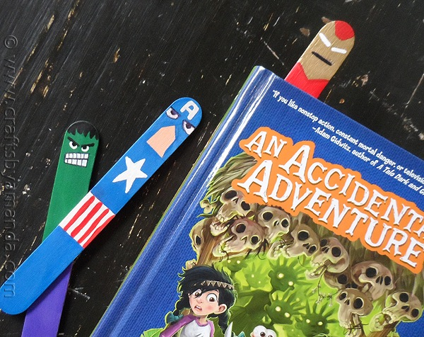 How-To: Popsicle Stick Avengers Bookmarks