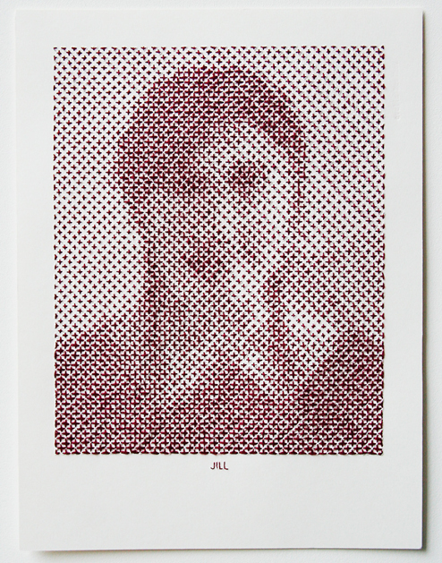 Evelin Kasikov's Stitched Portraits
