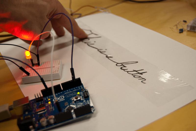 Turn a Pencil Drawing Into a Capacitive Sensor