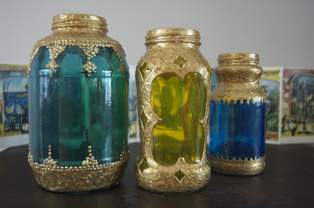 Morrocan Lanterns from Spaghetti Jars