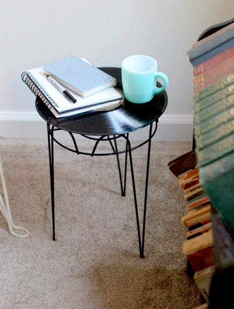 DIY Record Side Table