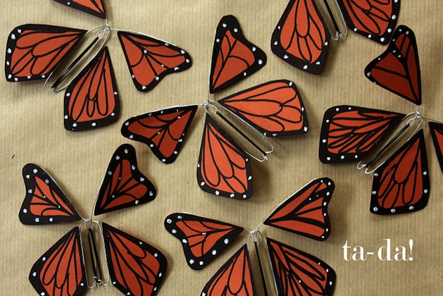 How-To: Wind-Up Paper Butterflies
