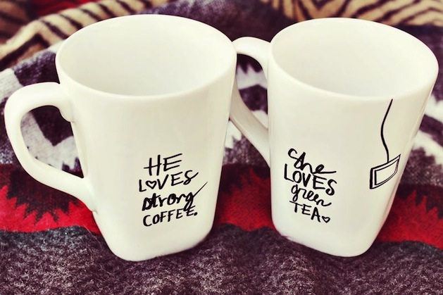 How-To: His and Her Sharpie Mugs