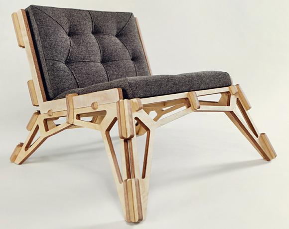 Cool CNC Lounge Chair Design
