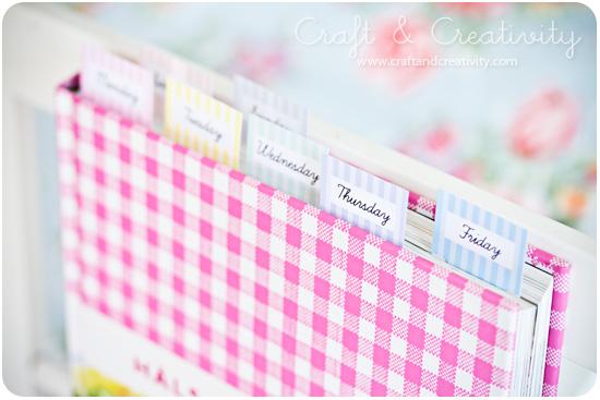 Printable Cookbook Markers
