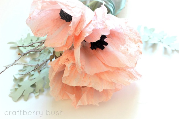 How-To: Crepe Paper Anemone Flowers