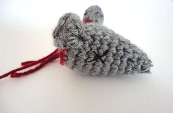 Decapitated Rat Head Catnip Toy