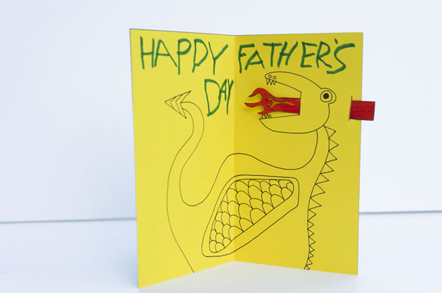 How-To: Animated Fire-Breathing Dragon Father's Day Card