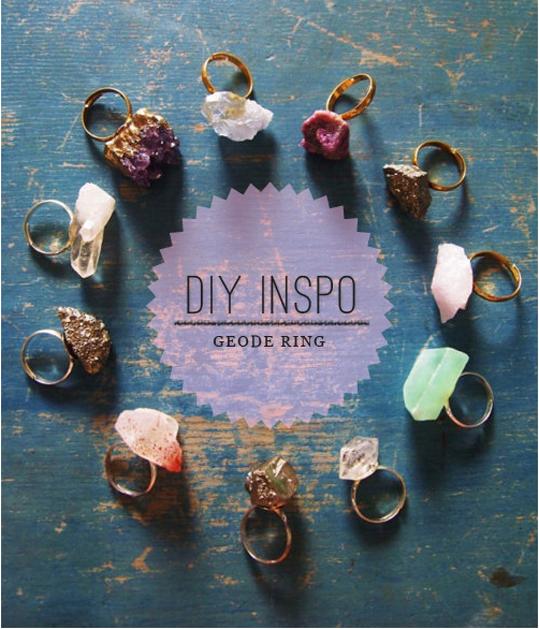 DIY Geode Ring