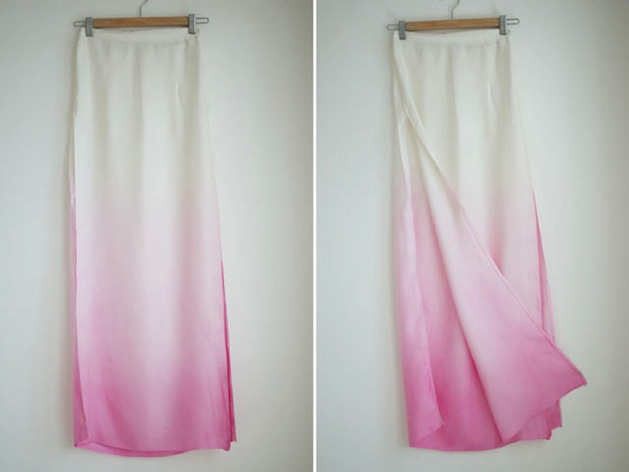 How-To: Diy Dyed Ombre Maxi Skirt
