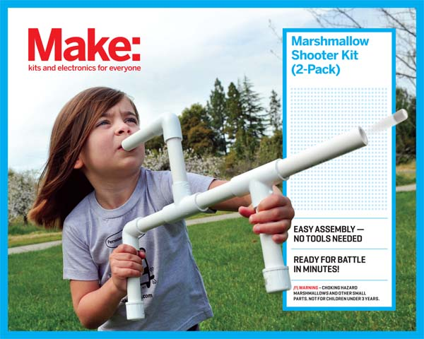 New in the Maker Shed: Make: Marshmallow Shooter (2-Pack)