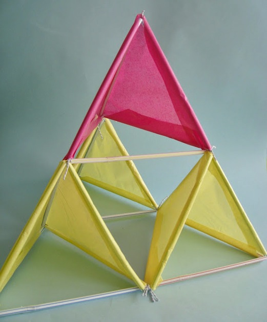 How-To: Tetrahedral Tissue Paper Kite