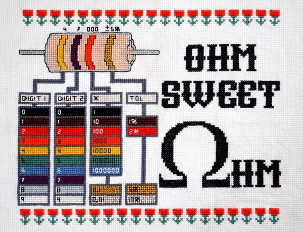 Adafruit Ohm Sweet Ohm Cross-Stitch Kit