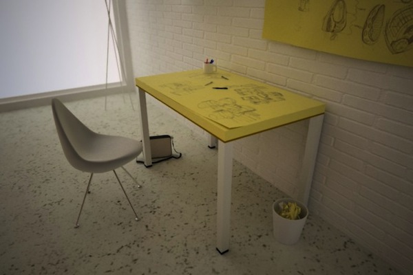 Giant Post-it Note Table