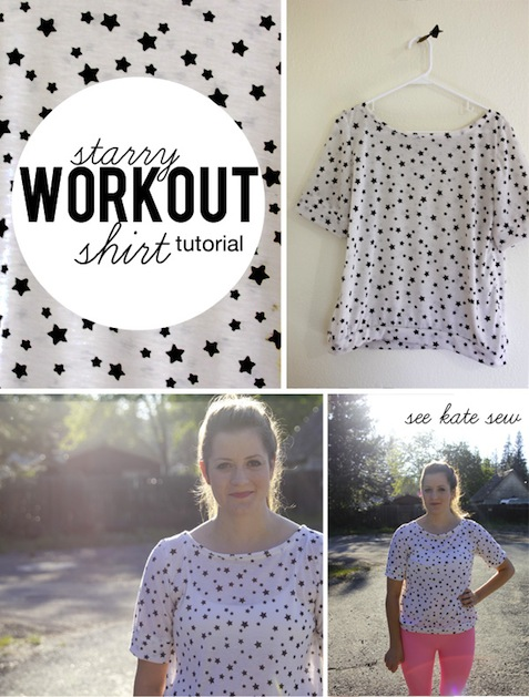 How-To: Cute Knit Workout Shirt