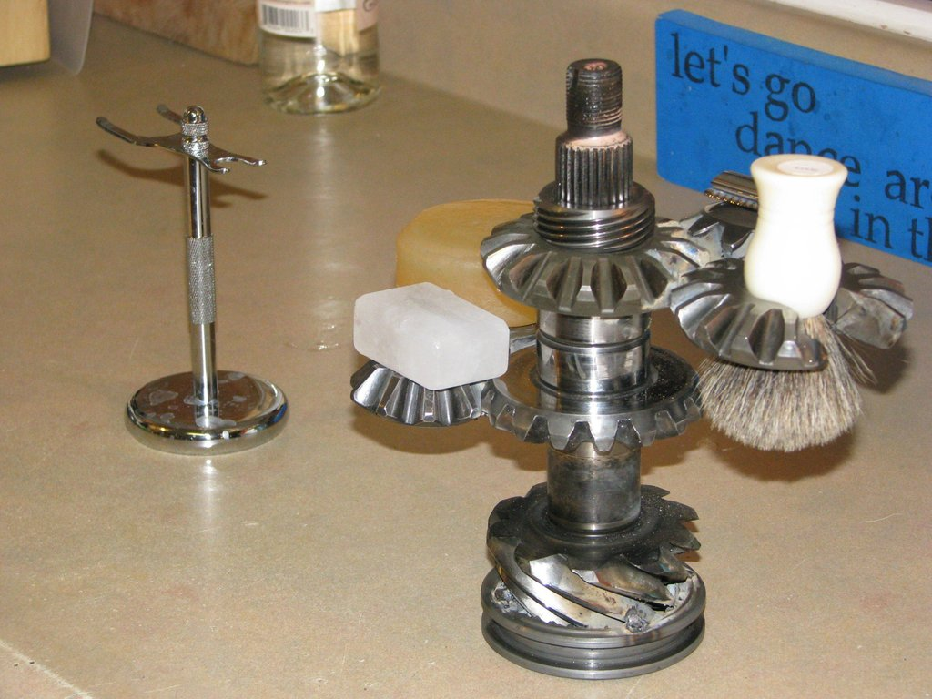 Shave Stand from Welded Gears