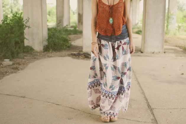 How-To: Upcycled Prairie Skirt