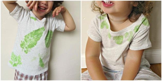 How-To: Leaf Print T-Shirts