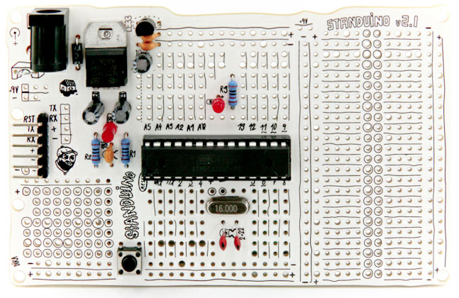 Standuino Sports Sketch Style Circuit Board