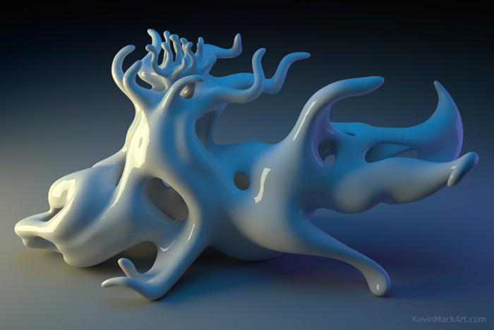 Kevin Mack's cool 3D art