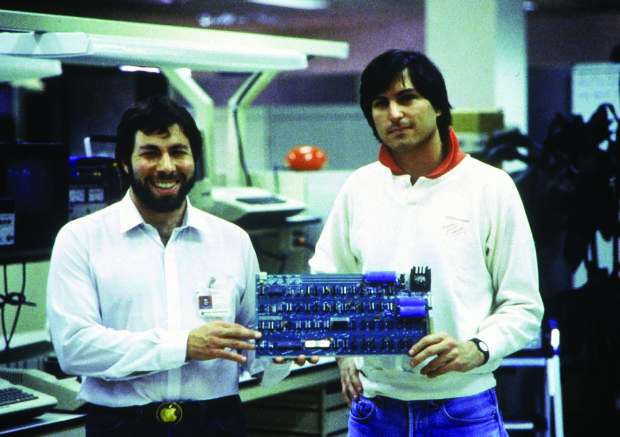 01 Jan 1978, USA --- Apple Computer was founded in 1976 by Steve Jobs (right), Steve Wozniak (left) and Ronald Wayne (not pictured) in the garage of their parents jobs in Mountain View (California) founded (archive photo from 1978). Photo: Apple + + + (c) dpa - Report + + | Location: Mountain View, Kalifornien, United States of America.  --- Image by © DB Apple/dpa/Corbis