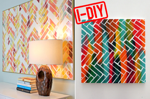 DIY Chevron Abstract Art