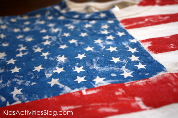 How-To: Painted Flag Shirt