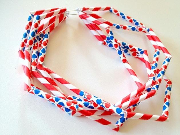 How-To: Festive Jonathan Adler Diet Pepsi Straw Necklace