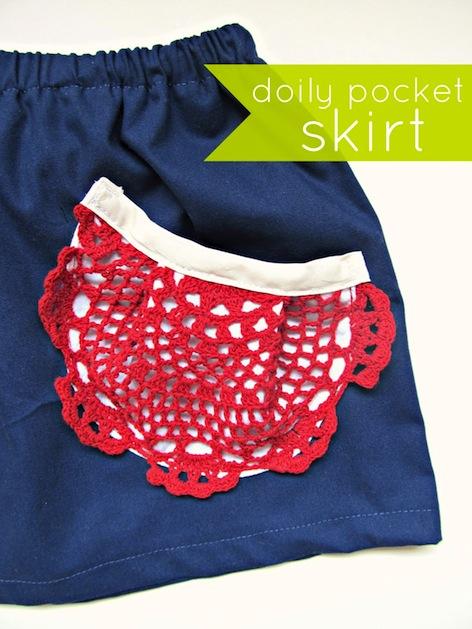 How-To: Doily Skirt Pocket