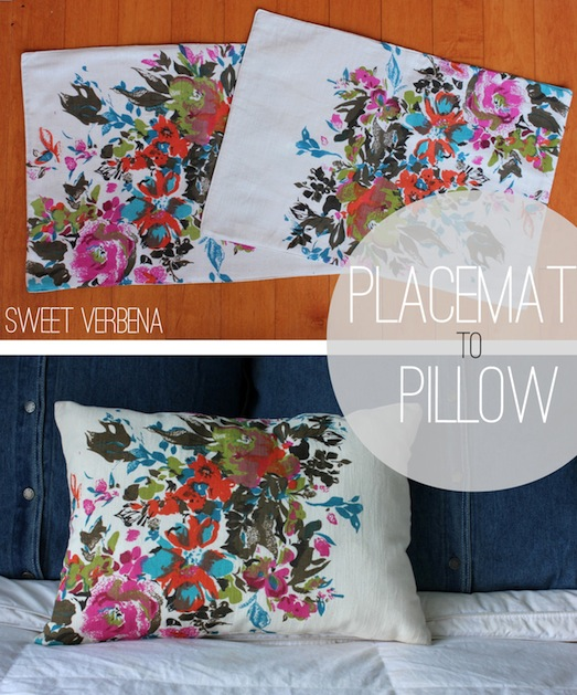 How-To: Fabric Placemat Pillows
