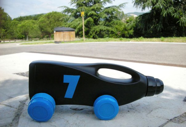Toy Vehicles from Plastic Bottles