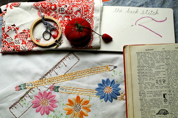 How-To: Back To School Embroidery