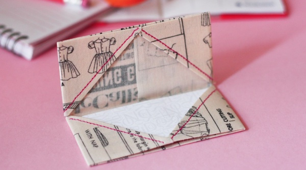 How-To: Fabric Origami Business Card Holder | Make: