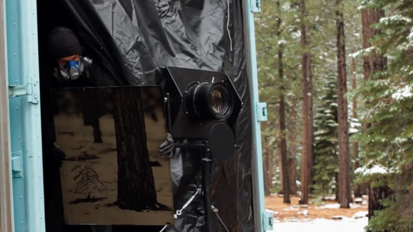 Gigantic View Camera in a Delivery Truck