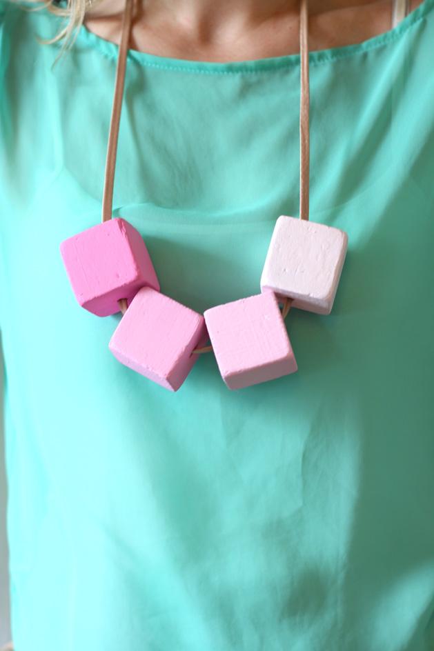 Project: DIY Ombre Block Necklace