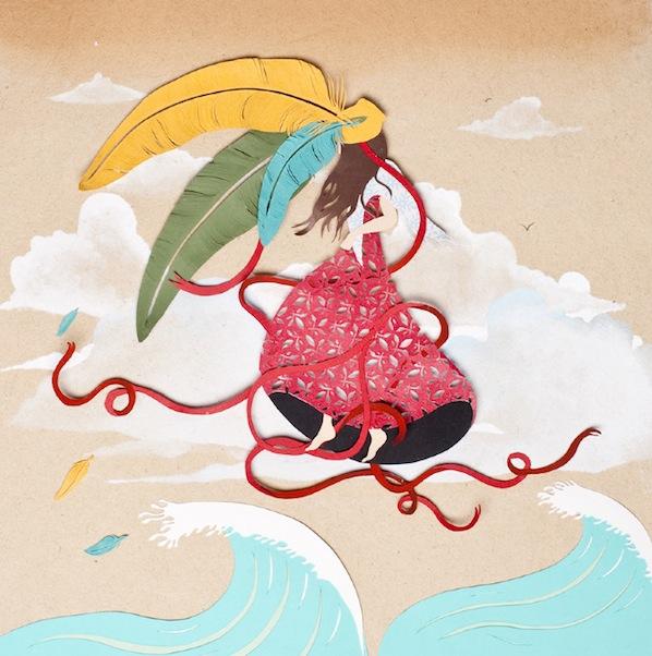 Sarah Dennis Paper Cut Illustrations