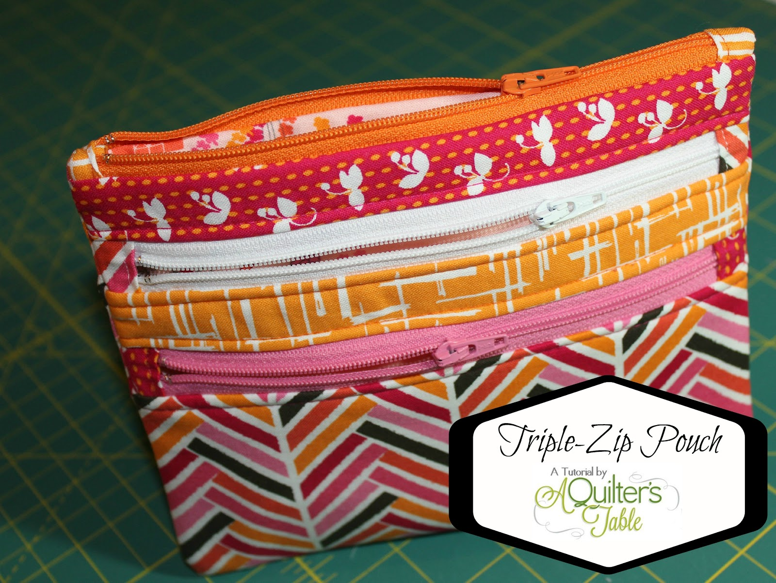 How-To: Triple Zip Pouch