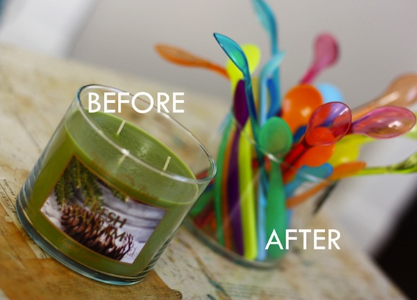 How-To: Remove Candle Wax from Glass Containers
