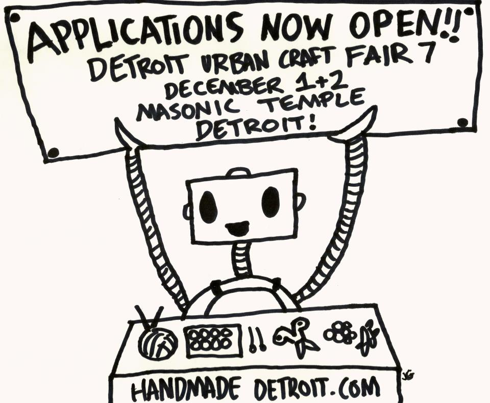 Apply to Detroit Urban Craft Fair 2012