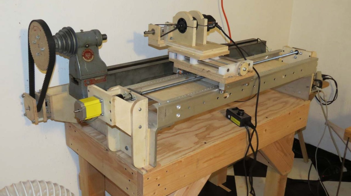 Building an arduino controlled lathe make
