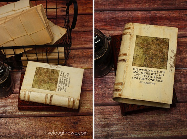 How-To: Vintage Book-Inspired Paper Mache Box
