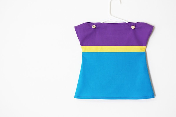 How-To: Colorblock Baby Dress