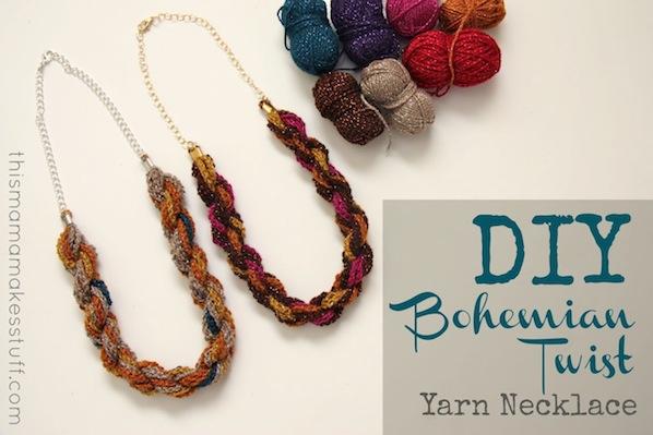 How-To: Bohemian Twist Yarn Necklace