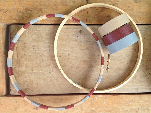 Washi Tape Embroidery Hoop